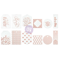 Picture of Heaven Sent Resist Watercolor Tags & Tabs - Foil
