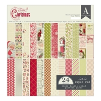 Picture of Authentique Double-Sided Cardstock Pad 12X12 - Classic Christmas