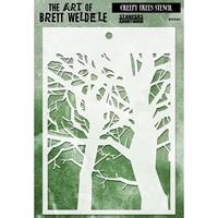 Picture of Brett Weldele Stencils - Creepy Trees