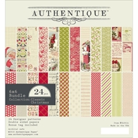 Picture of Authentique Double-Sided Cardstock Pad 6X6 - Classic Christmas