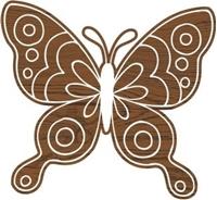 Εικόνα του Fabric Creations Block Printing Stamps - Medium Doodle Butterfly