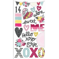 Picture of Love and Adore - Chipboard Elements