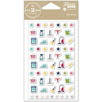Picture of Day2Day Planner Puffy Stickers - Household