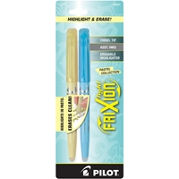 Picture of Pilot FriXion Light Pastel Erasable Highlighters - Yellow & Blue
