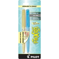 Picture of Pilot FriXion Light Pastel Erasable Highlighters - Yellow & Teal
