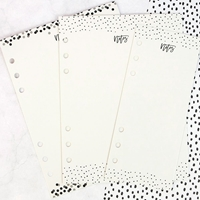 Picture of My Prima Planner Dry Erase Board Inserts - Black & White
