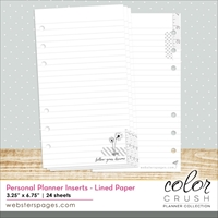 Picture of Color Crush Personal Planner Paper Inserts - Lined