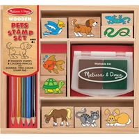 Picture of Wooden Stamp Set - Pets