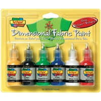Picture of Scribbles 3D Fabric Paints 1oz Set of 6 - Shiny