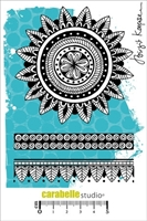 Picture of Cling Stamp A6 - Flower and Borders by Birgit Koopsen