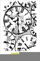 Picture of Cling Stamp A6 - Background, time to time