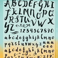 Picture of Clear Stamps - Elines Handlettering Script
