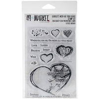 """Picture of 49 & Market Clear Stamps 4""""X6"""" - With All Your Heart"""