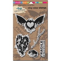 """Picture of Stampendous Andy Skinner Cling Stamps 9""""X5.25"""" - Handle With Care"""