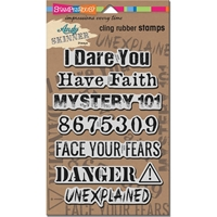 """Picture of Stampendous Andy Skinner Cling Stamps 9""""X5.25"""" - Unexplained"""