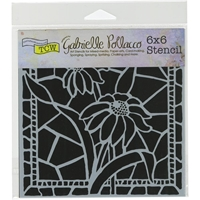 Picture of Crafter's Workshop Template 15x15 - Stained Glass Daisies