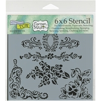 Picture of Crafter's Workshop Template 15x15 - Floral Flourish