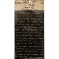 Picture of Idea-Ology Metallic Stickers - Quotations Black & White with Gold