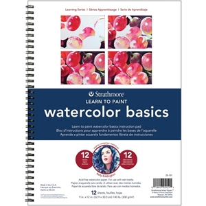 Picture of Strathmore Learn To Paint Wire Pad - Watercolor Basics