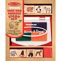 Picture of Wooden Stamp Set Small - Baby Zoo Animals