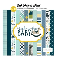 Picture of Carta Bella Double-Sided Paper Pad 6X6 - Rock-A-Bye Baby Boy