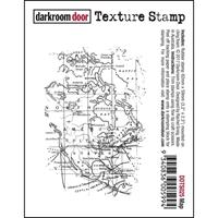 Picture of Darkroom Door Cling Stamp - Map