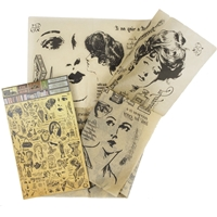 Picture of 7 Gypsies Architextures Parchment Rub-Ons - Pose