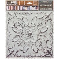 Picture of 7 Gypsies Architextures Adhesive Tin Tiles - White Wash