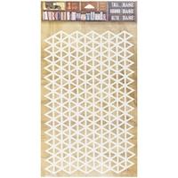 """Εικόνα του 7 Gypsies Architextures Adhesive Tall Base 9""""X6"""" - Triangle Grid"""