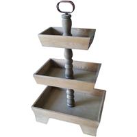 Picture of Hampton Art Rustic 3-Tier Wooden Tray