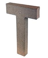 Εικόνα του 3D Γράμματα 20.5cm Γράμματα - T
