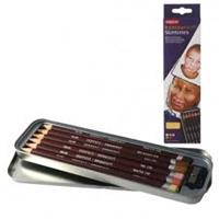 Εικόνα του Derwent Colorsoft Skin Tones - Χρωματιστά μολύβια για πορτρέτο