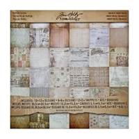 Εικόνα του Tim Holtz Idea-ology Paper Pad 12''X12'' - French Industrial