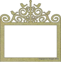 Picture of Photo frame with Birds- Chipboard
