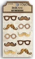 Picture of Kraft Wood Mustaches