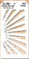 Εικόνα του Layering Stencil Rays - Tim Holtz