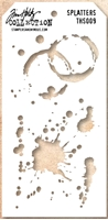 Picture of Layering Stencil Splatters - Tim Holtz