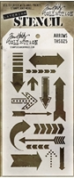 Εικόνα του Layering Stencil Arrows - Tim Holtz