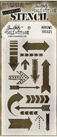 Εικόνα του Layering Stencil Arrows - Tim Holtz