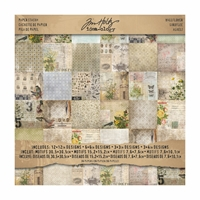 "Picture of Tim Holtz Idea-ology Paper Pad 12""X12'' - Wall Flower Tim Holtz"