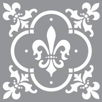 Εικόνα του Στενσιλ Fleur de Lis - Americana Decor 30.5 x 30.5 cm
