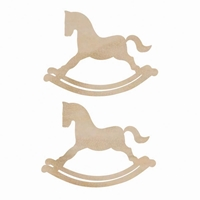 Picture of Wood Flourish - Rocking Horses