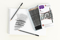 Picture of Derwent Academy Sketching Pencils - Tin of 12
