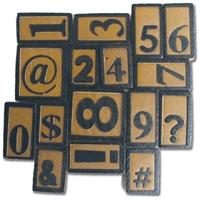 Εικόνα του Ξυλινα Τυπογραφικά Στοιχεία - Συμβολα και Νουμερα