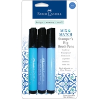 Picture of Mix & Match Stamper's Big Brush Pens - Blue