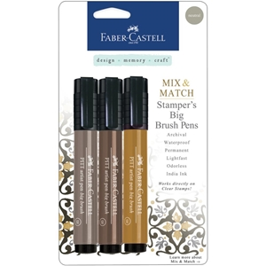 Picture of Faber Castell PITT Mix & Match Stamper's Big Brush Pens - Neutral