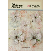 Εικόνα του Textured Elements Jeweled Flowers - White