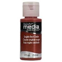 Εικόνα του DecoArt Media Antiquing Cream Κρεμα Παλαιωσης - English Red Oxide