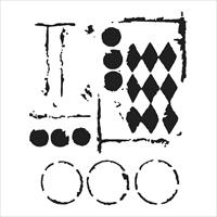 Εικόνα του Crafter's Workshop Template 15x15 - Harlequin Circles