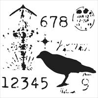 Picture of Stencil 6x6 - Ravenscape